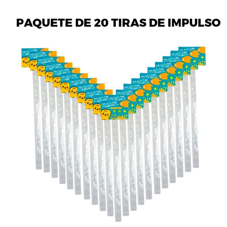 PAQUETE DE 20 TIRAS DE IMPULSO